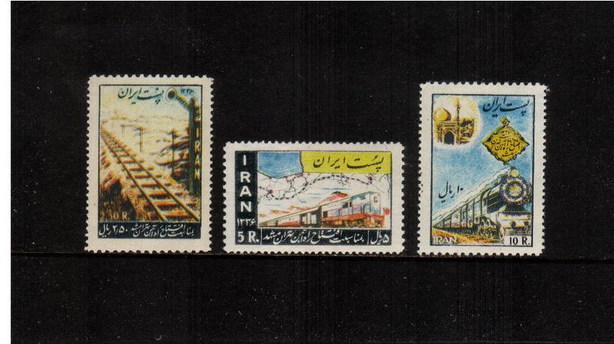Inauguration of Teheran-Meshed Railway.<br/>