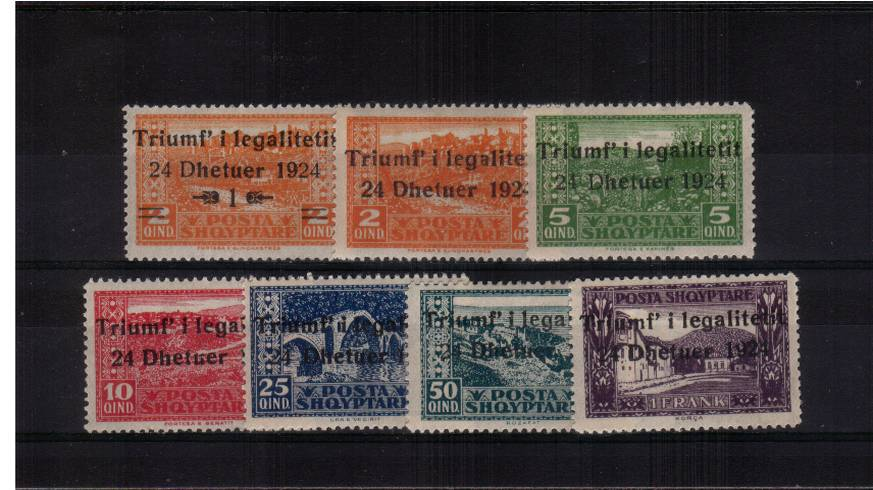 The Return of Government to Capital in 1924<br/>A good lightly mounted mint set of seven.