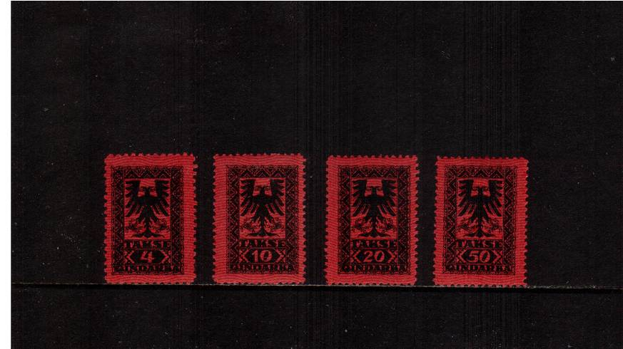 The POSTAGE DUE set of four superb very, very lightly mounted mint.