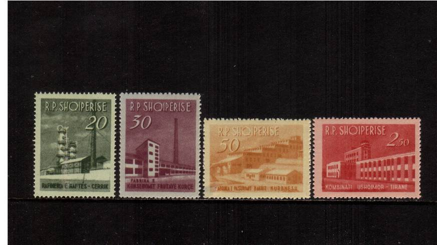 Industrial Buildings<br/>Set of four superb unmounted mint.