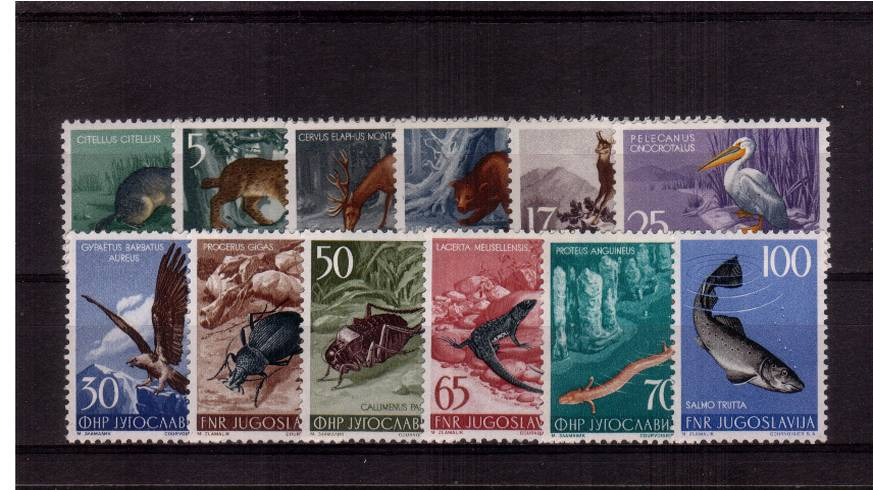 Animals<br/>A superb unmounted mint set of twelve.<br/>A famous set! SG Car �0.00