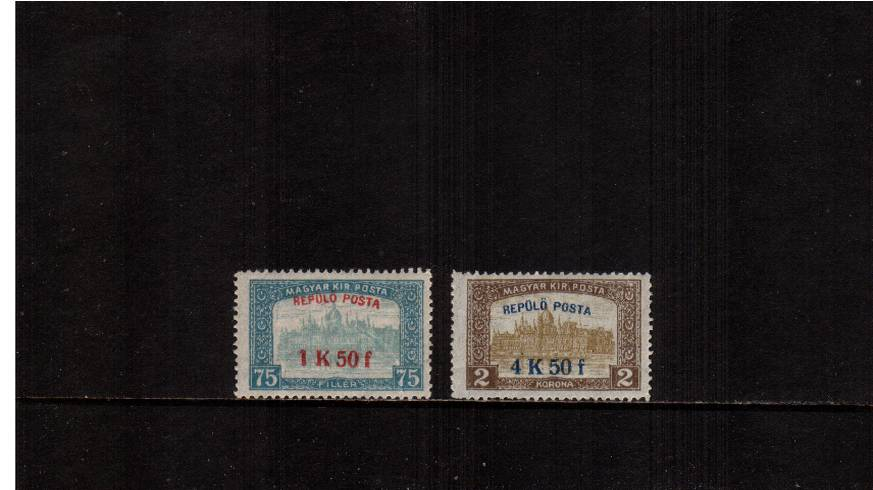 AIR - Surcharged complete set of two lightly mounted mint.<br/>SG Cat �.00