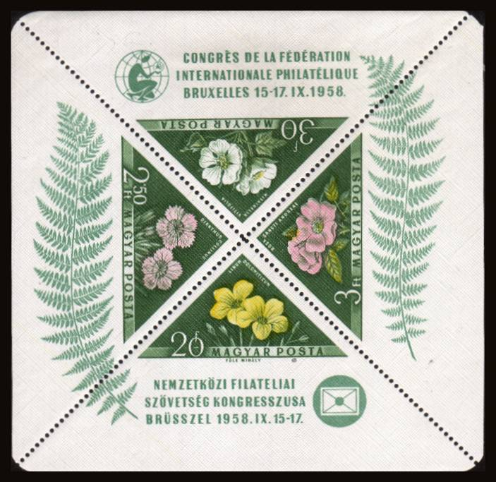 International Philatelic Federation Congress - Brussels - Flowers<br/>