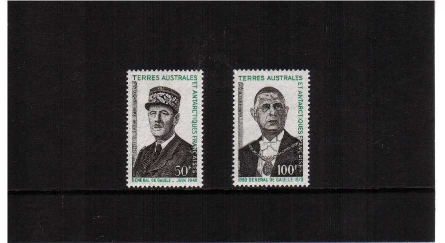 General Charles de Gaulle set of two superb unmounted mint.