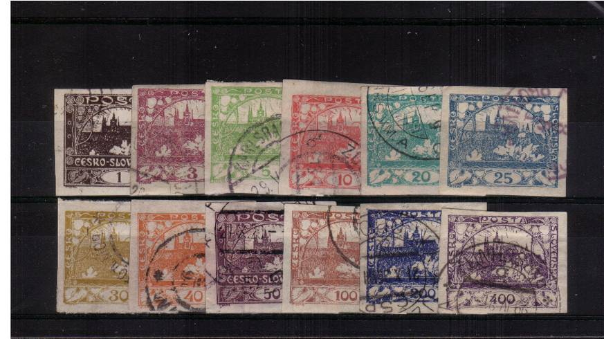 The ''Views'' IMPERFORATE definitive set of twelve fine used.