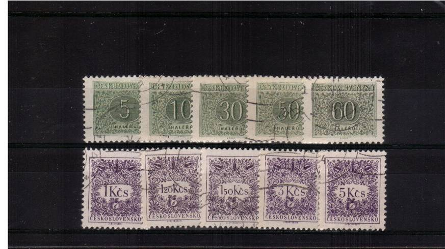 Postage Due set of ten - Perforation 11�br/>Superb fine used