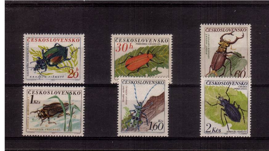 Beetles set of six superb unmounted mint.<br/>SG Cat �