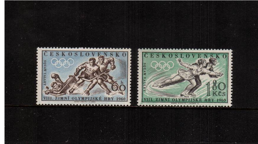 Winter Olympic Games set of two superb unmounted mint.</br>SG Cat �.25
