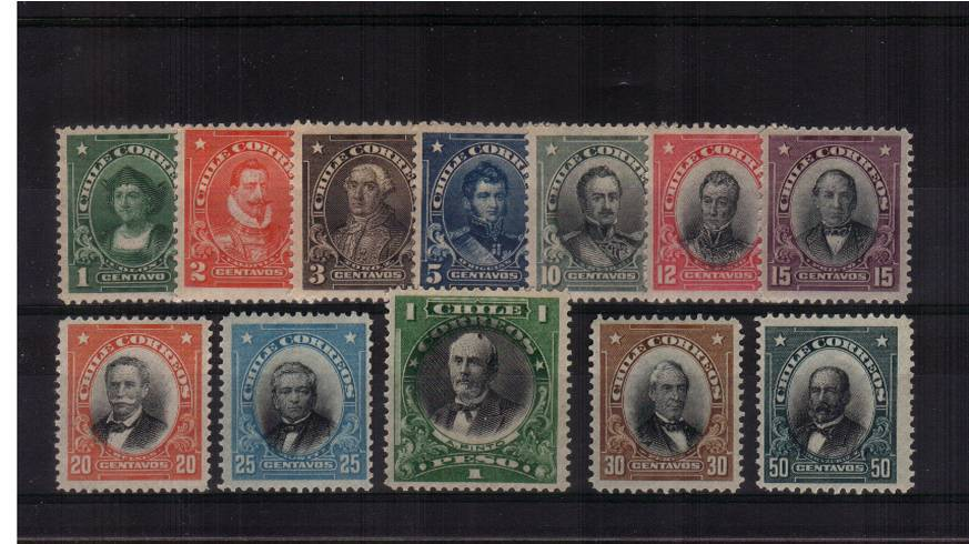Famous people set of twelve to the 1p superb unmounted mint.<br/> Lovely fresh set. SG Cat for mounted �.00+
