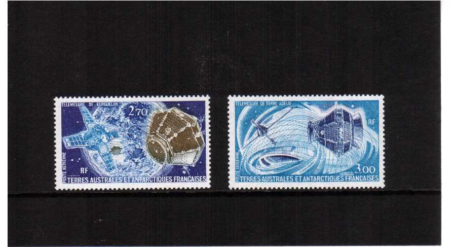 Space Satellites set of two superb unmounted mint