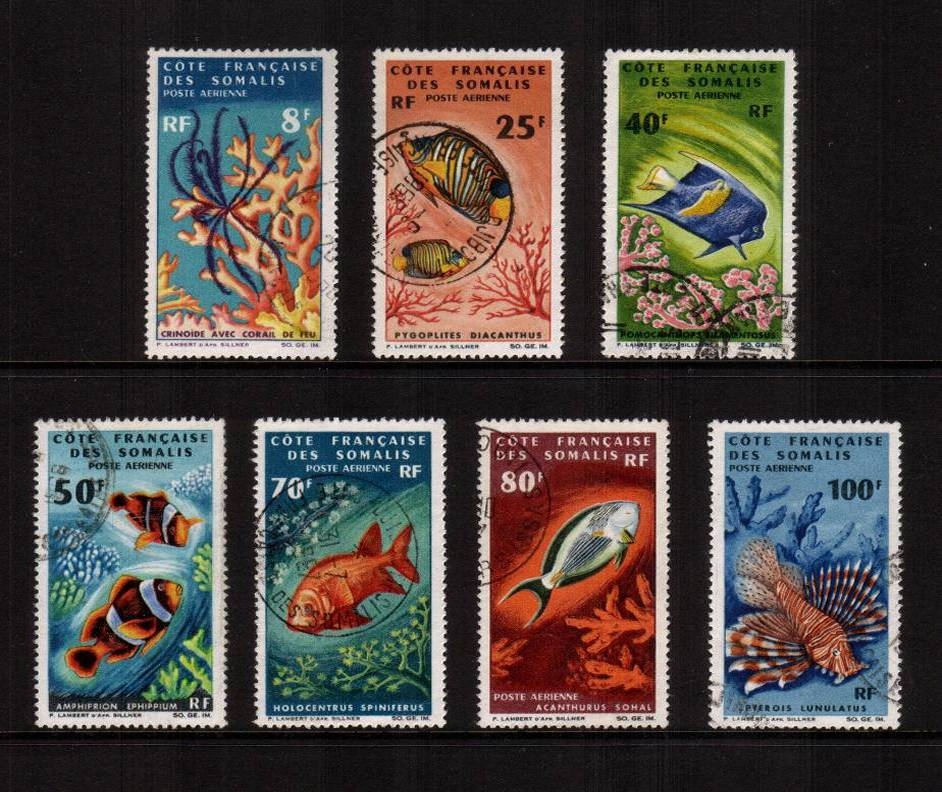 The Marine Life AIR<br/>set of seven with each stamp being genuinely fine used, not cancelled to order! SG Cat �0