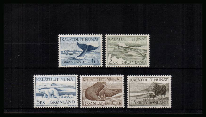 Greenland Mammals<br/>A superb unmounted mint set of five