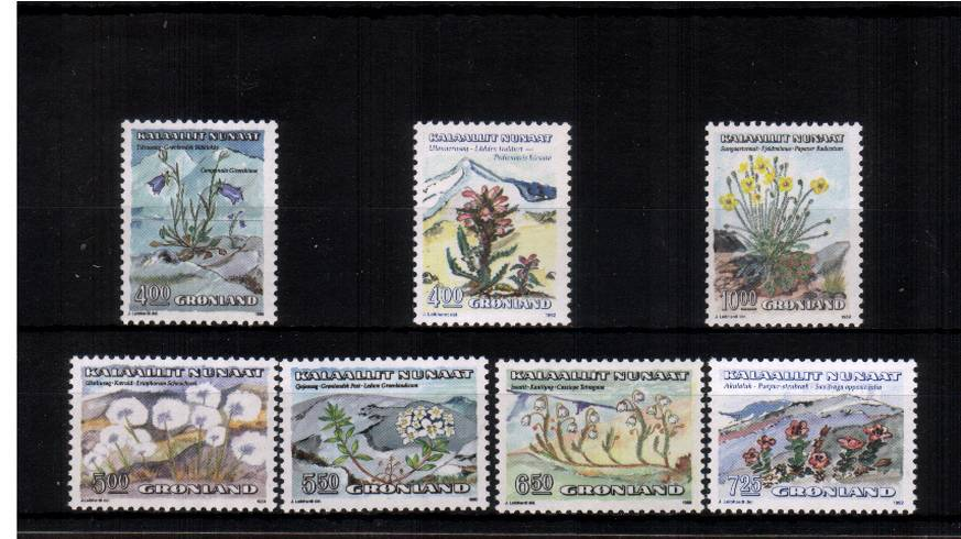 Flowers set of seven superb unmounted mint.