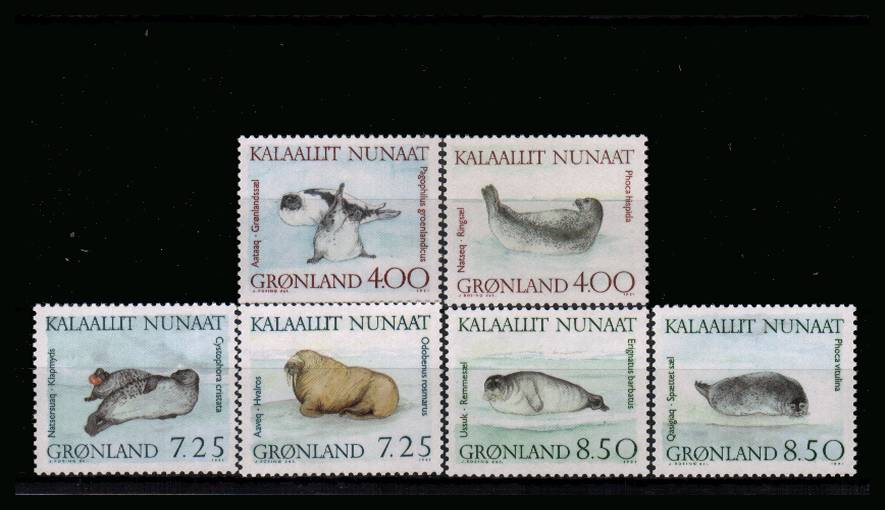 Marine Mammals set of six superb unmounted mint