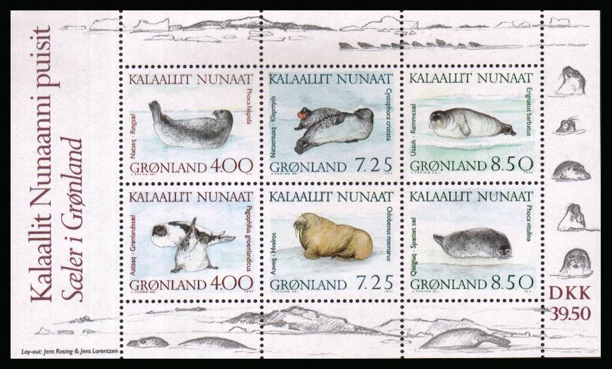 Marine Mammals minisheet superb unmounted mint