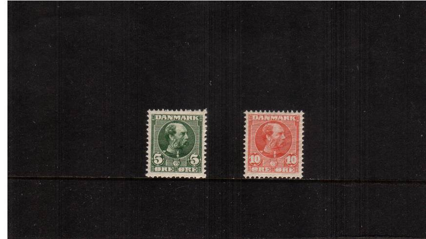 King Christian IX - Clear background of crossed lines