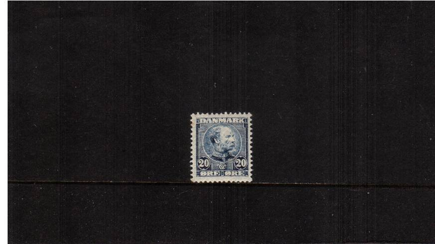 20or Blue (light) King Christian IX - Background Horizontal lines