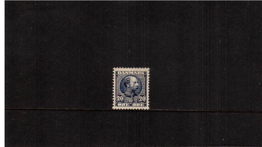20or Blue (dark) King Christian IX - Background Horizontal lines