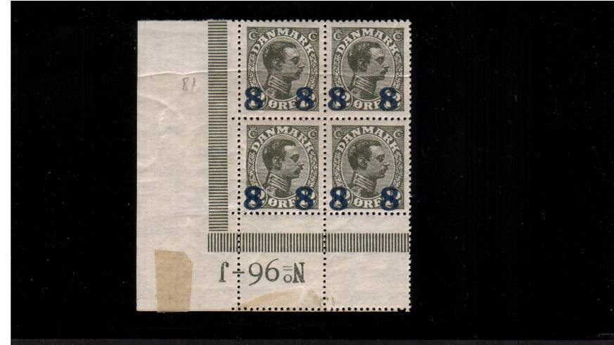8or on 12or Olive Slate - TYPE B - King Christian X<br/>
