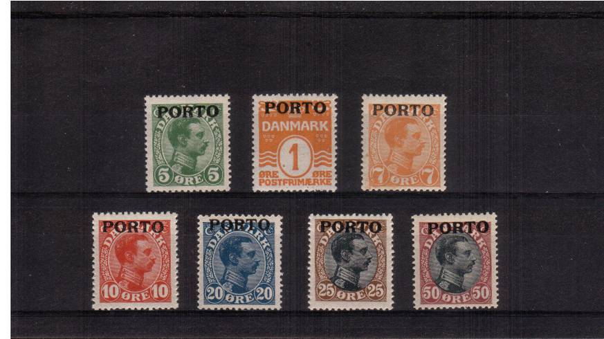 The 1921 Postage Due complete set of seven superb unmounted mint.