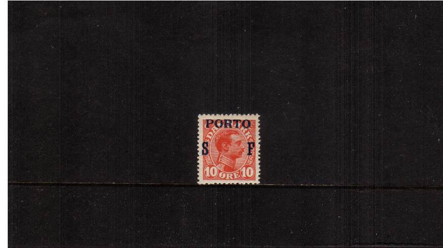 The 10or Military Frank stamp overprinted PORTO<br/>