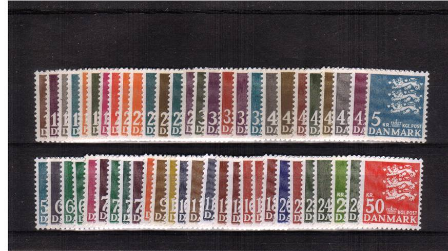 The complete set of ''Arms'' Definitive stamps<br/>as listed by Stanley Gibbons 2018 - 1st Edition catalogue.<br/>A complete set to 2003. All 54 stamps superb unmounted mint. <br/>A difficult set to build! SG Cat �9