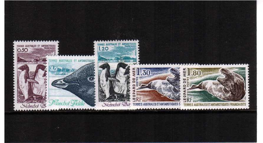 Antarctic Fauna set of five superb unmounted mint