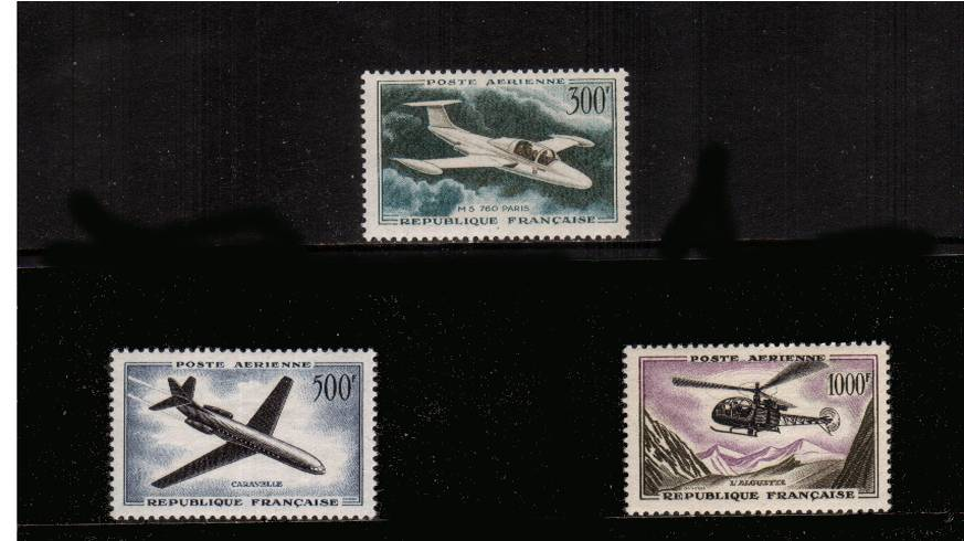 The airmail complete set of three superb unmounted mint. SG Cat �0