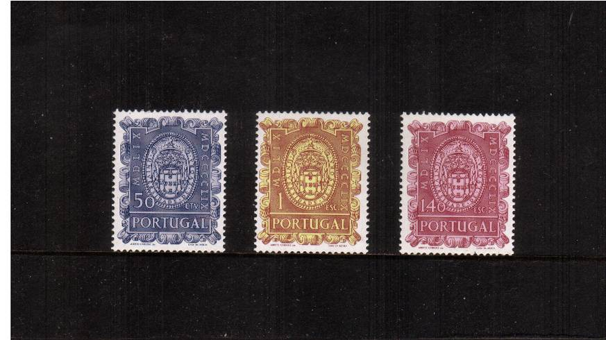 400th Anniversary of University of Evora<br/>A superb unmounted mint set of three.