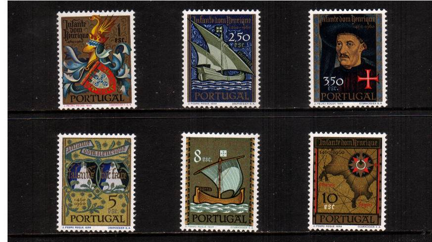 Death of Prince Henry the Navigator<br/>A superb unmounted mint set of six. SG Cat �
