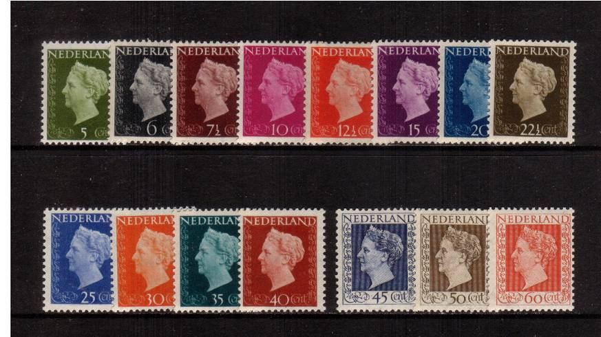 The Queen Wilhelmina set of fifteen superb unmounted mint. SG Cat �5<br/>