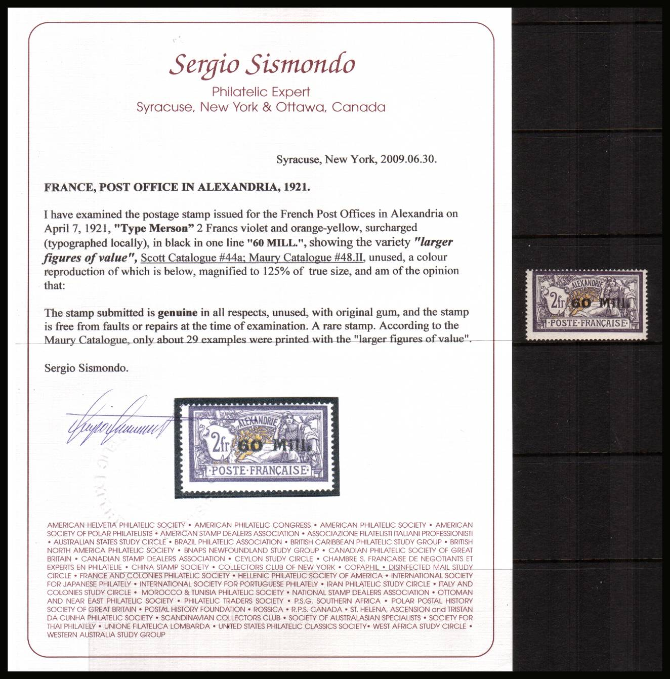 60m on 2Fr Deep Lilac and Buff<br/>