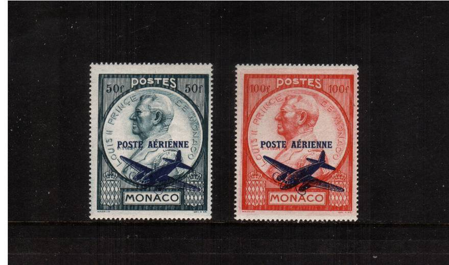 The AIRMAIL set of two very very lightly mounted mint.