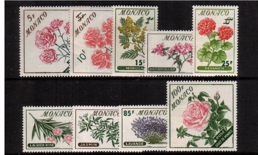 Flowers set of nine superb unmounted mint. SG Cat �