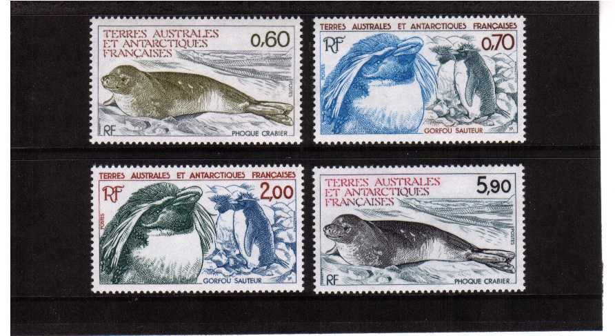 Antarctic Wildlife set of four superb unmounted mint