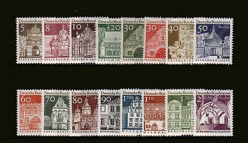 Centuries of German Architecture<br/>A superb unmonted mint set of sixteen.