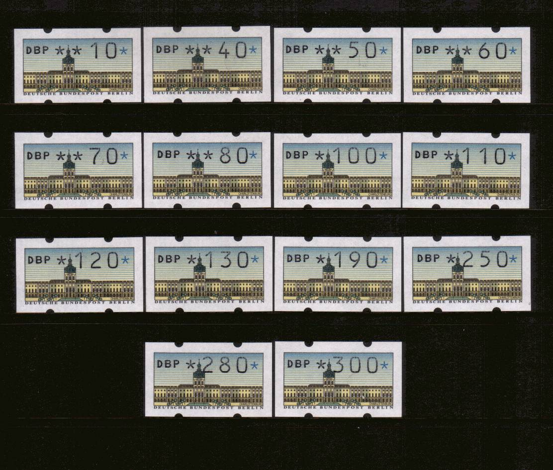 The complete set of fourteen superb unmounted mint.