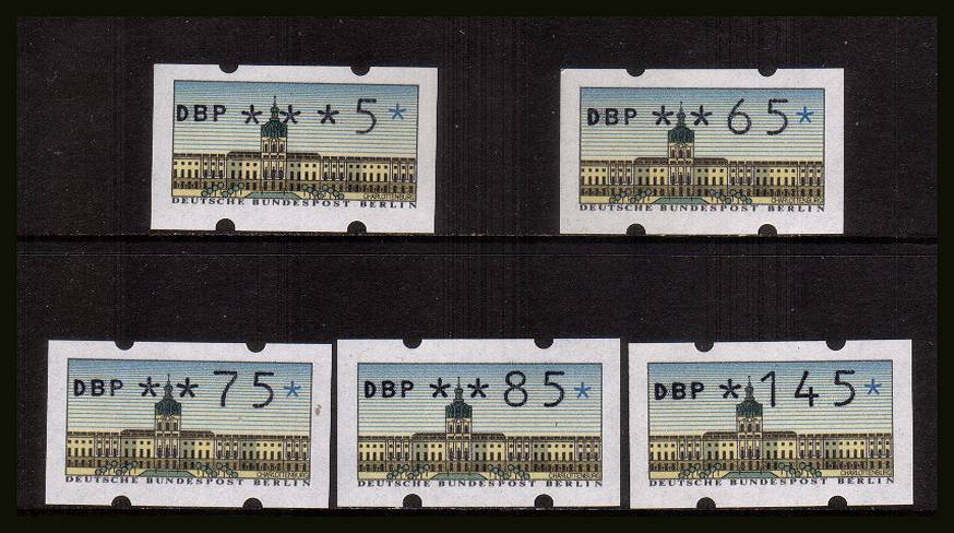 The complete later set of five superb unmounted mint.