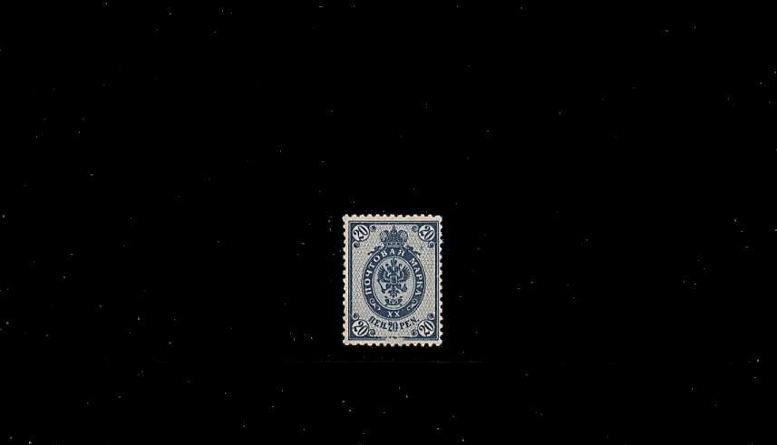 20p Blue - Russian Type - Perforation 14<br/>