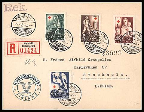 Red Cross Fund set of four