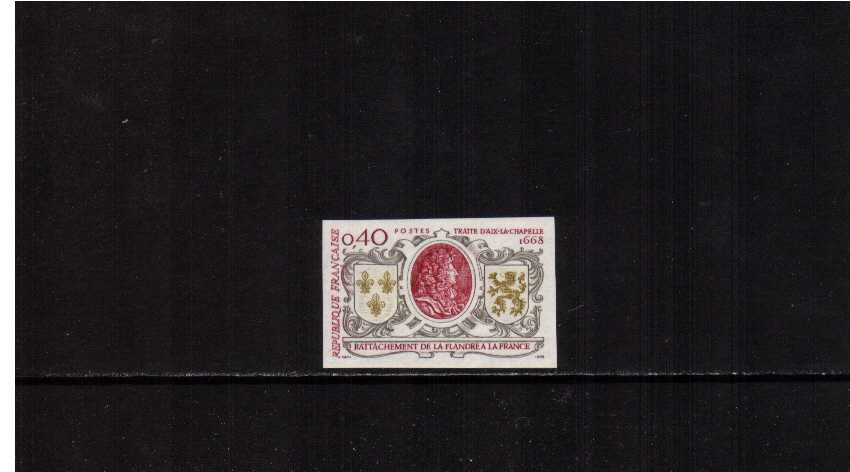 300th Anniversary of Treaty of Aix-la-Chapelle imperforate single superb unmounted mint.