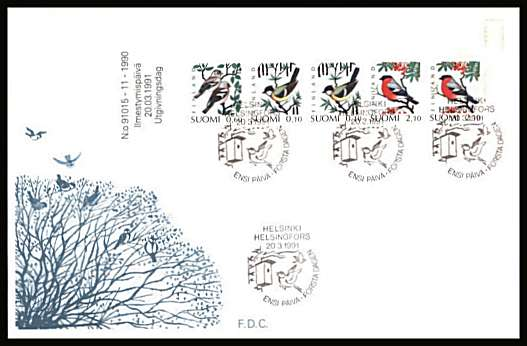 Birds - 1st Series - Booklet pane of five