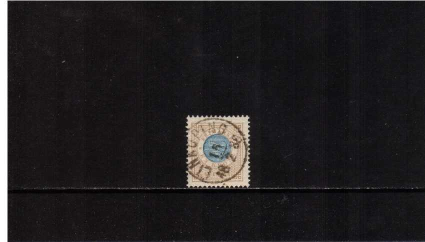 1K Blue and Bistre superb fine used with excellent centering and colour.
