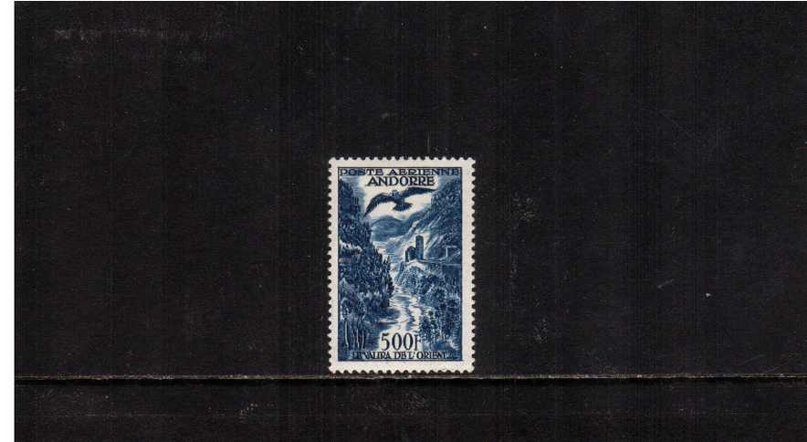 500F Deep Blue. A good mounted mint single bright and fresh. The top value to the set.