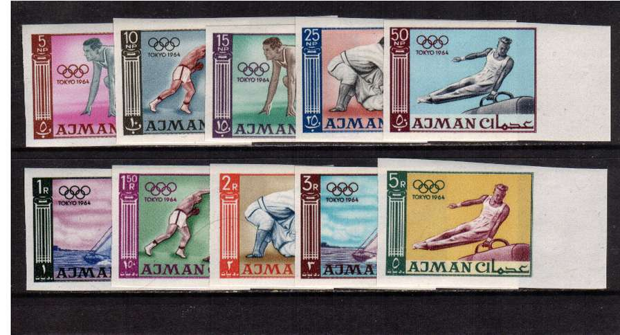 Olympic Games - Tokyo set of ten IMPERFORATE all right side marginal  superb unmounted mint