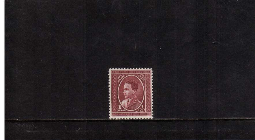 1d Claret definitive top value  superb unmounted mint