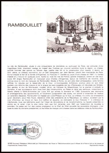 Tourist Publicity - Chateau de Rambouillet