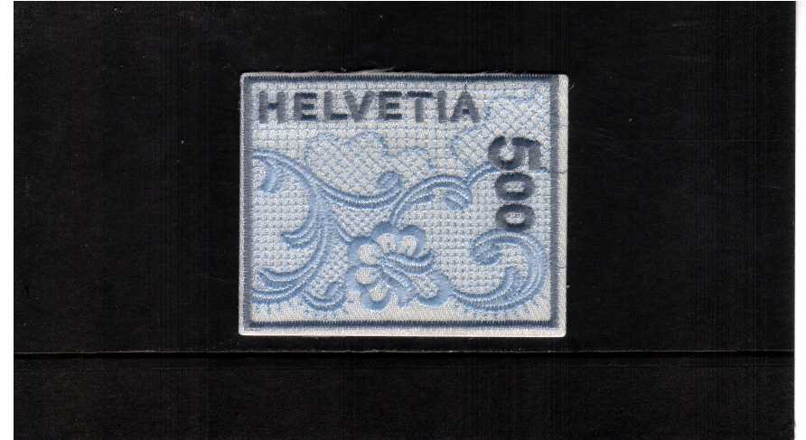 the famous St Gallen embroidery self adhesive stamp in presentation folder
