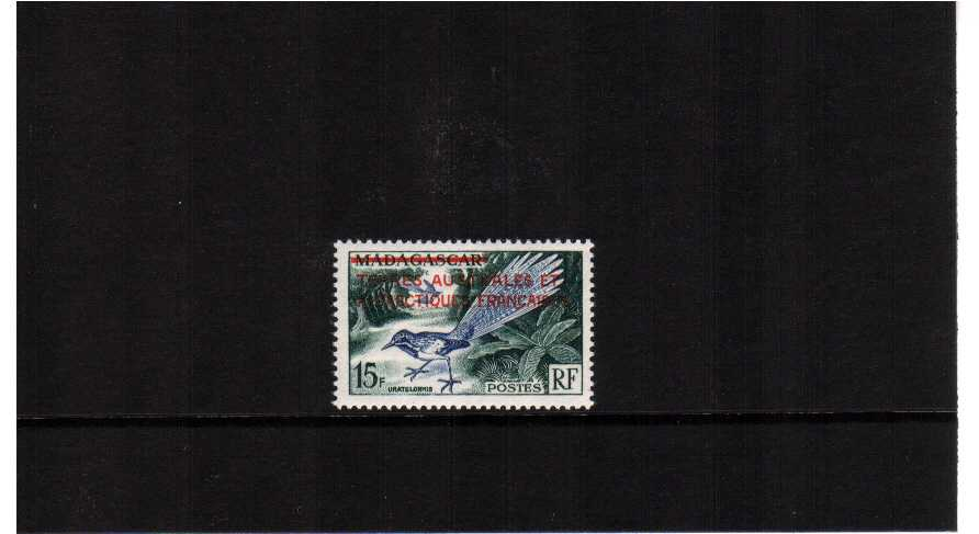 the MADAGASCAR bird single with overprint