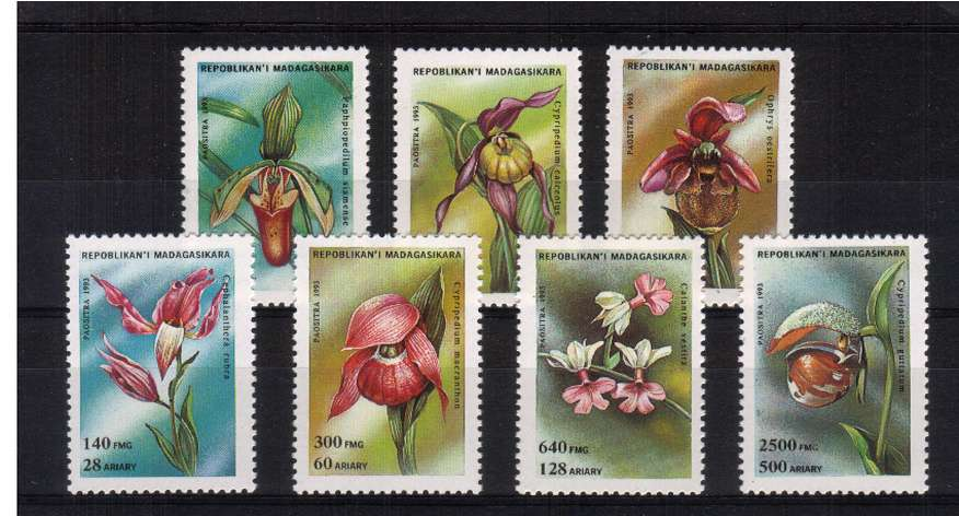 Orchids set of seven superb unmounted mint. <br/>SG Cat �65